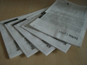 Guidebook cut to pieces.