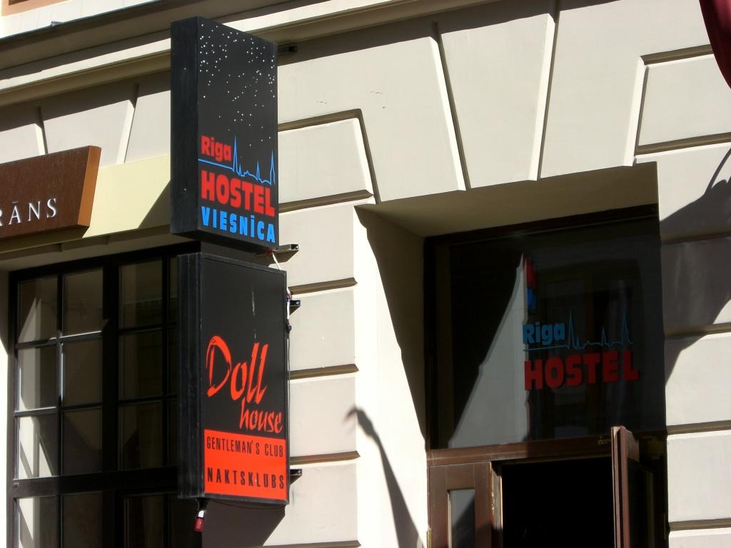 Awkwardly-located hostel, Riga, Latvia