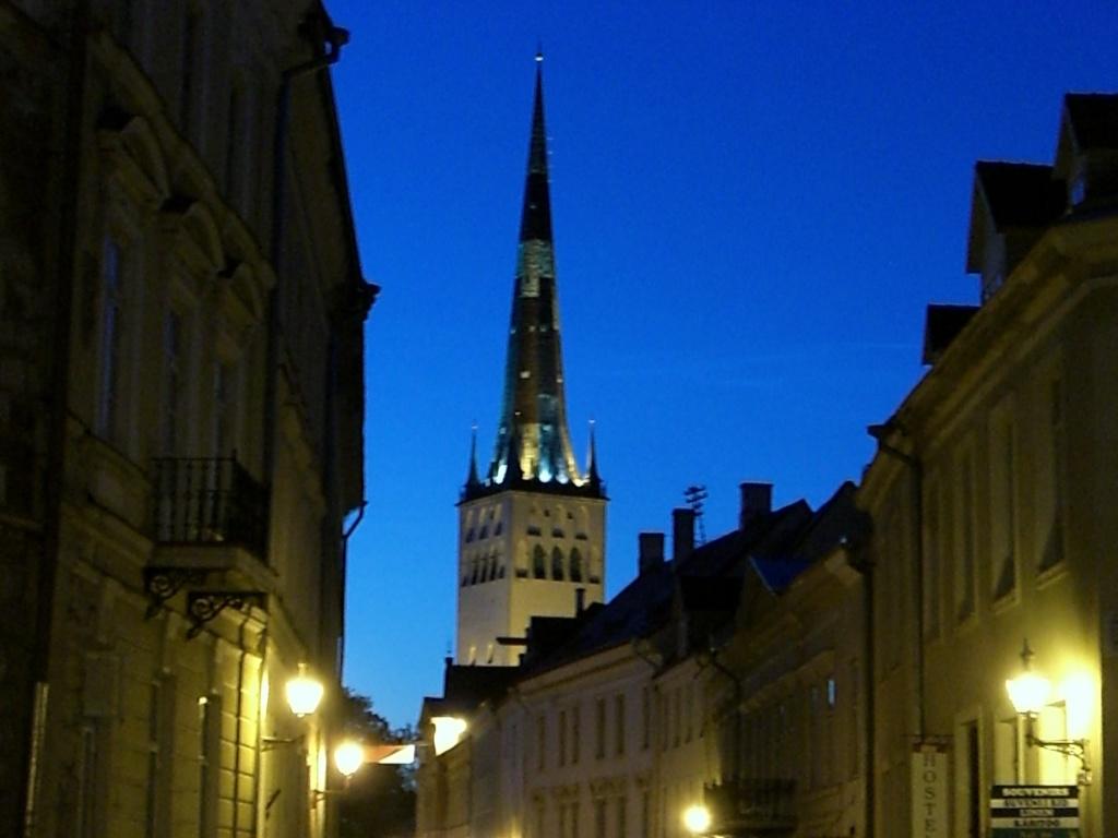 Spiky towers in Tallinn, Estonia.