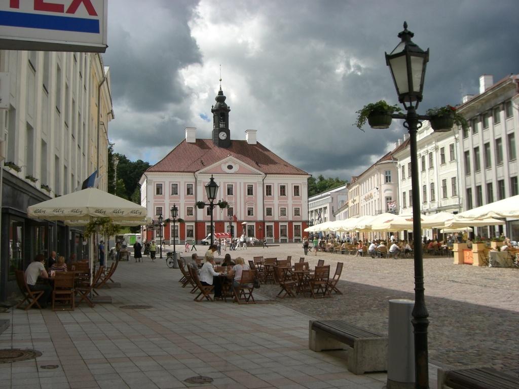 Town Hall and town square, Tartu, Estonia.
