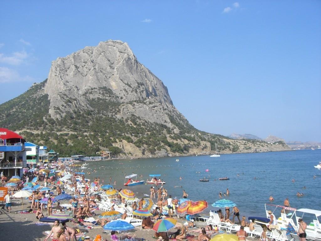 Crimean beach, Ukraine