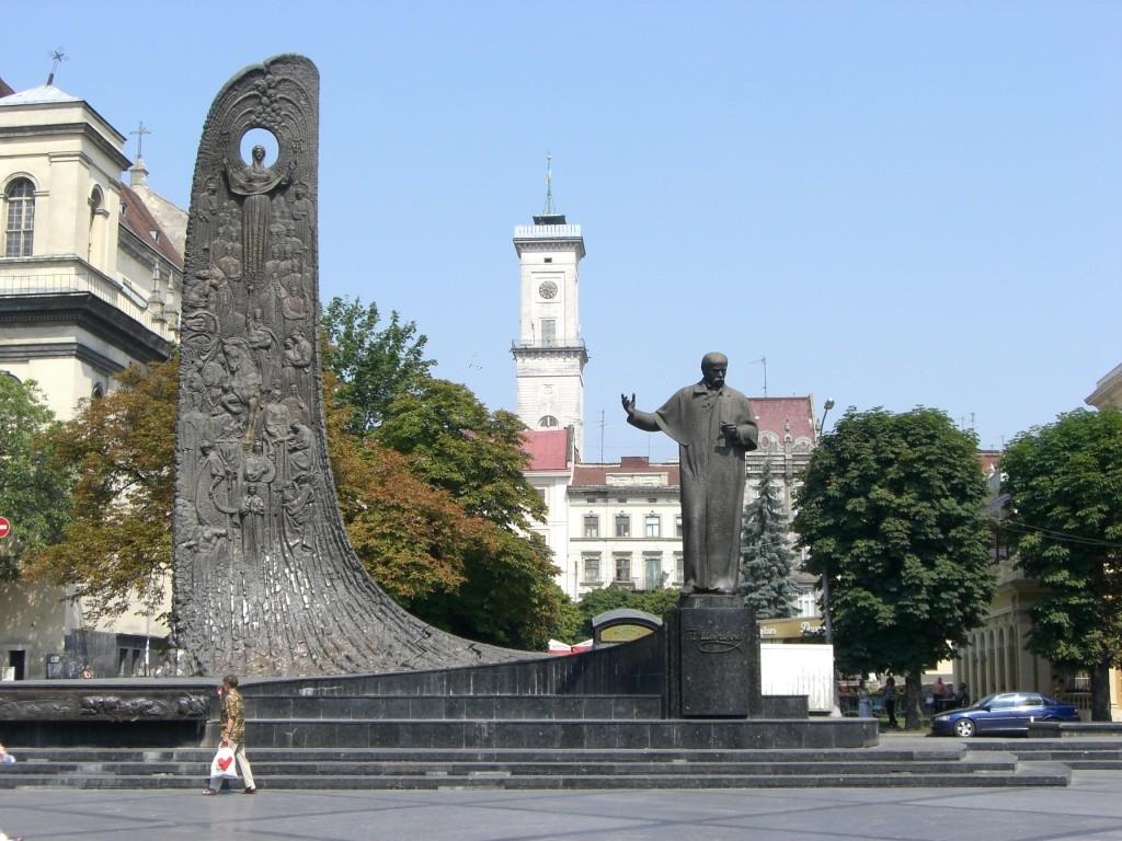 Taras Shevchenko statue, Lviv, Ukraine