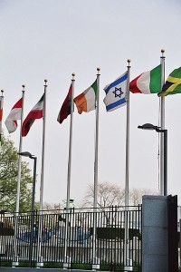 Flags at the United Nations Headquarters