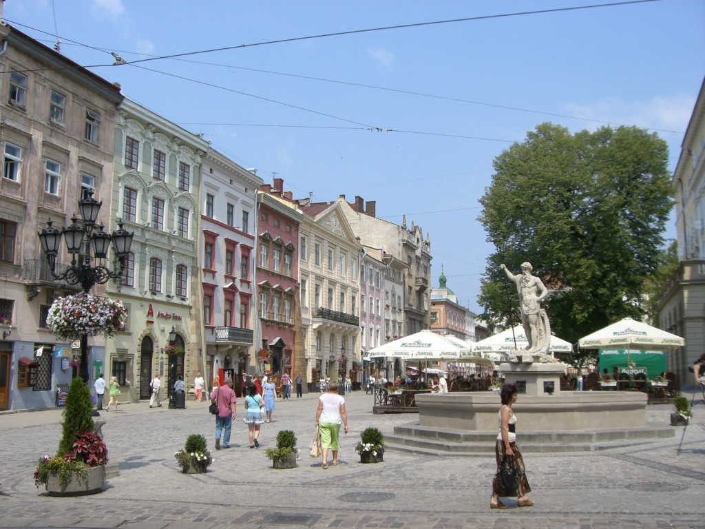 Lviv town square, Lviv, Ukraine