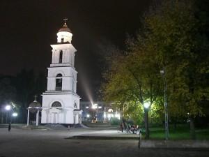 Moldovan church tower, Chisinau, Moldova