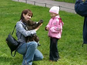 Russian bear cub photo op