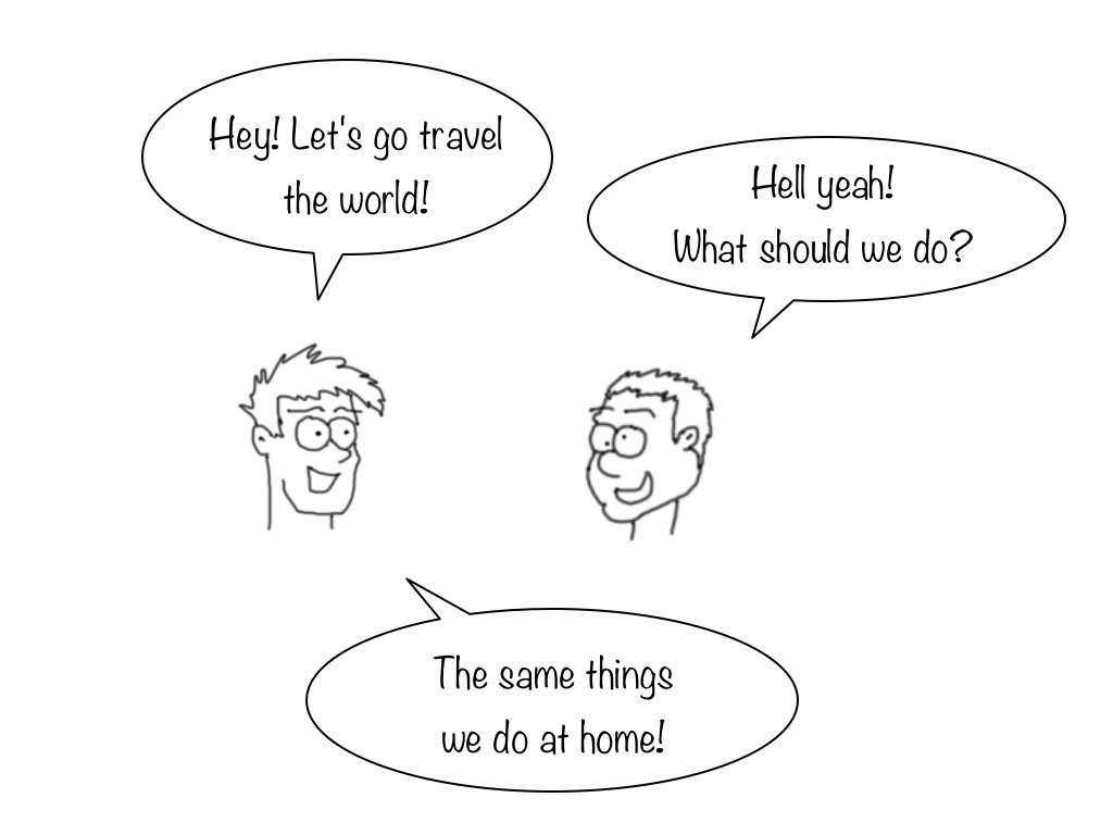 How to waste a trip cartoon