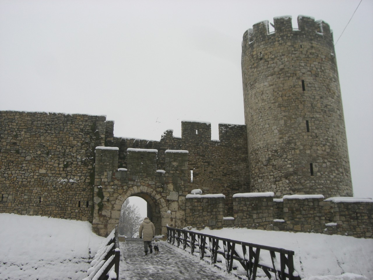 Castle in the snow