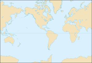 World map, Americas centered