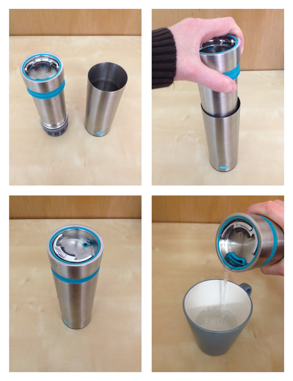 GRAYL filling and filtering