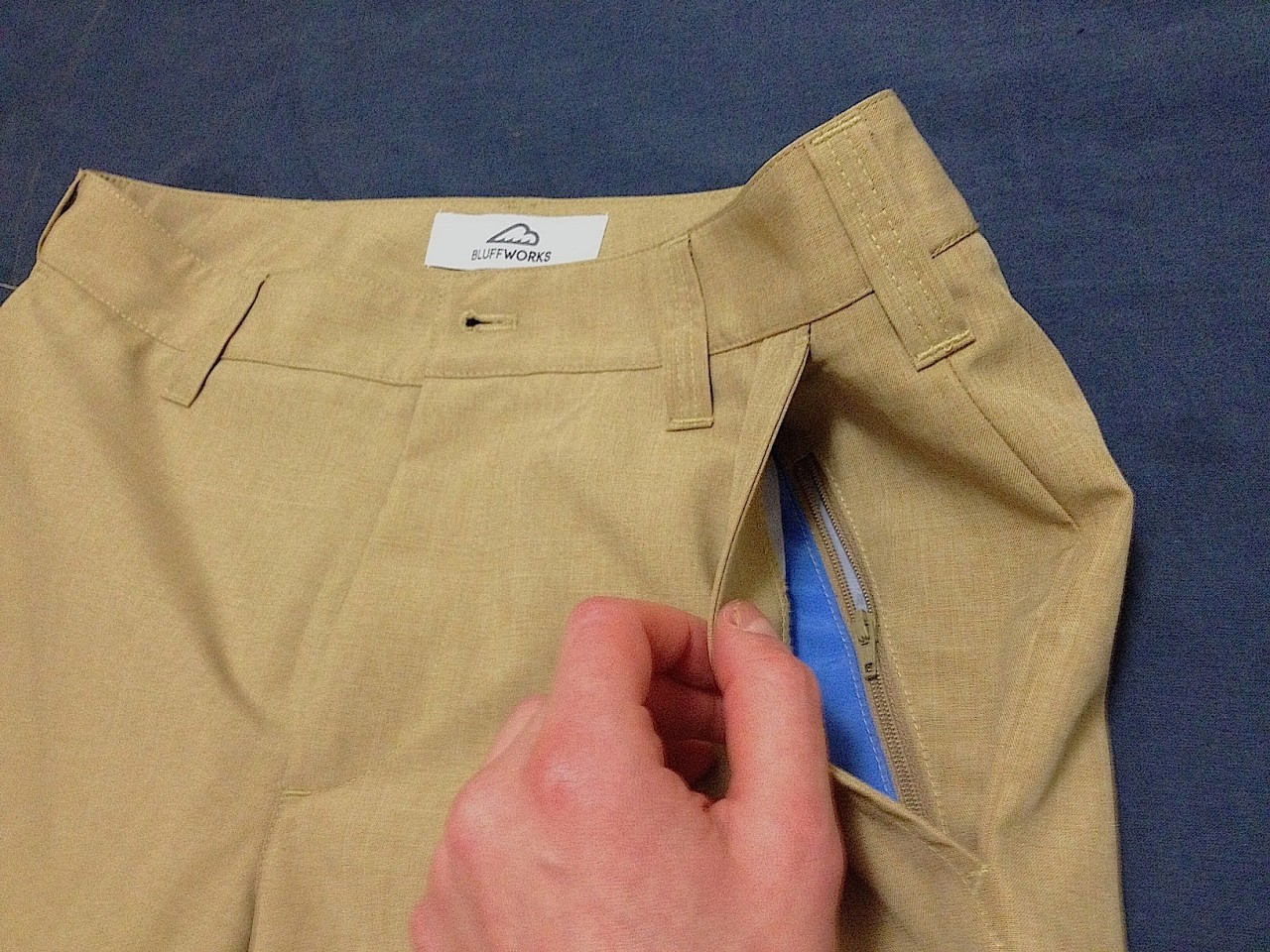 Bluffworks travel pants security pocket