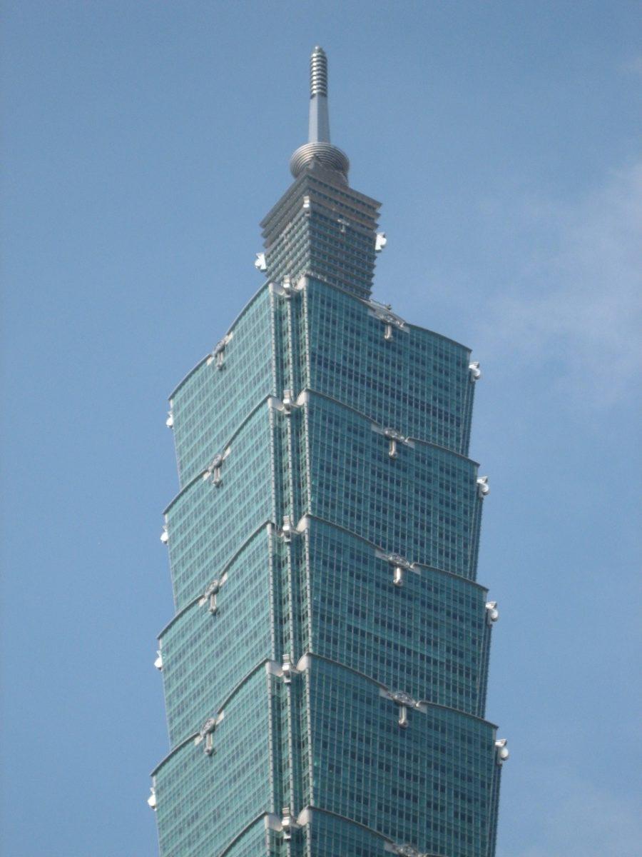 Taipei 101 double stairstep corners