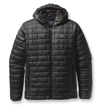 The Patagonia Nano Puff Hooded Jacket, another great synthetic that'll  handle a little rain. Get it here.