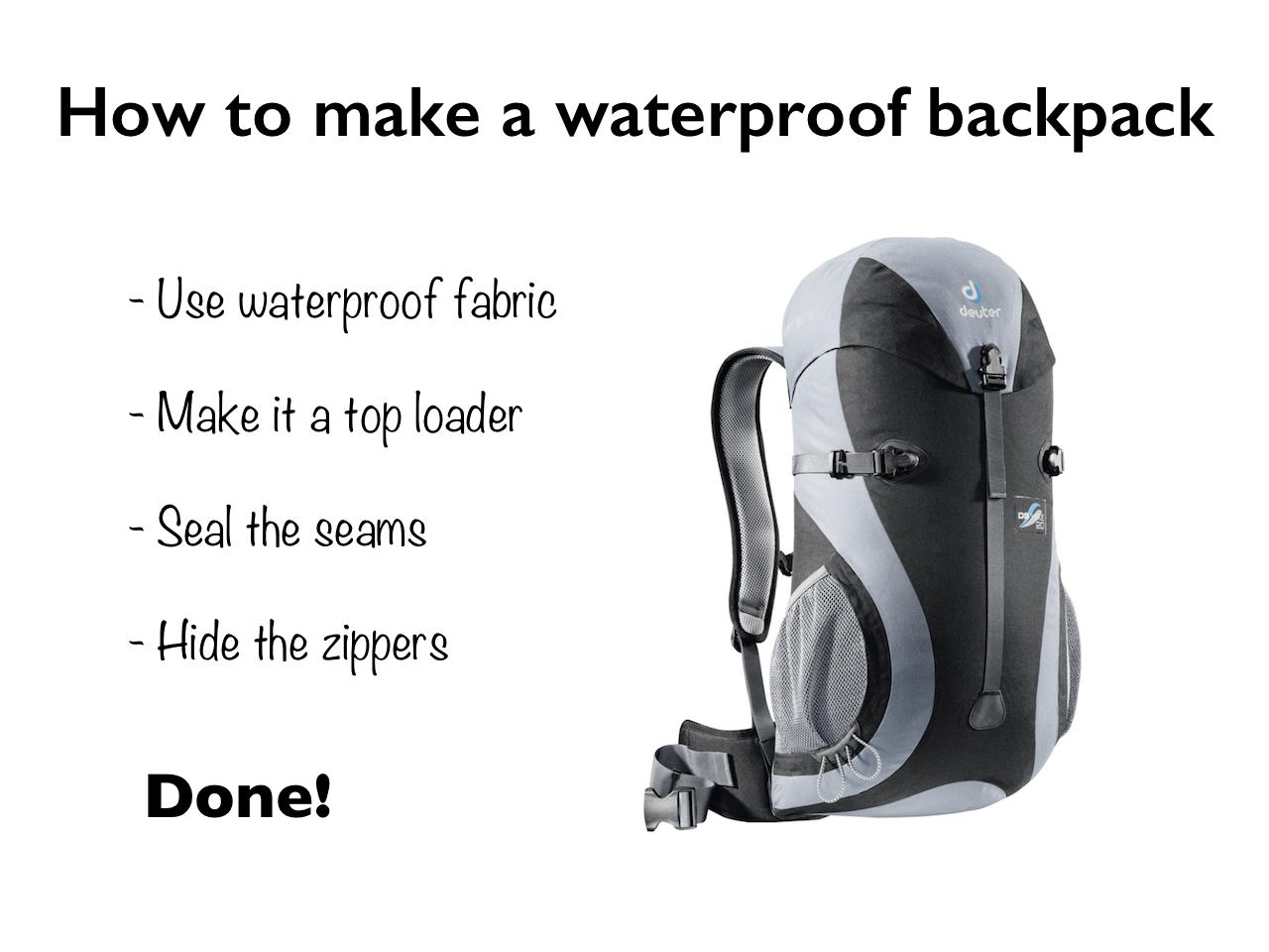 Waterproof Hiking Backpack Design