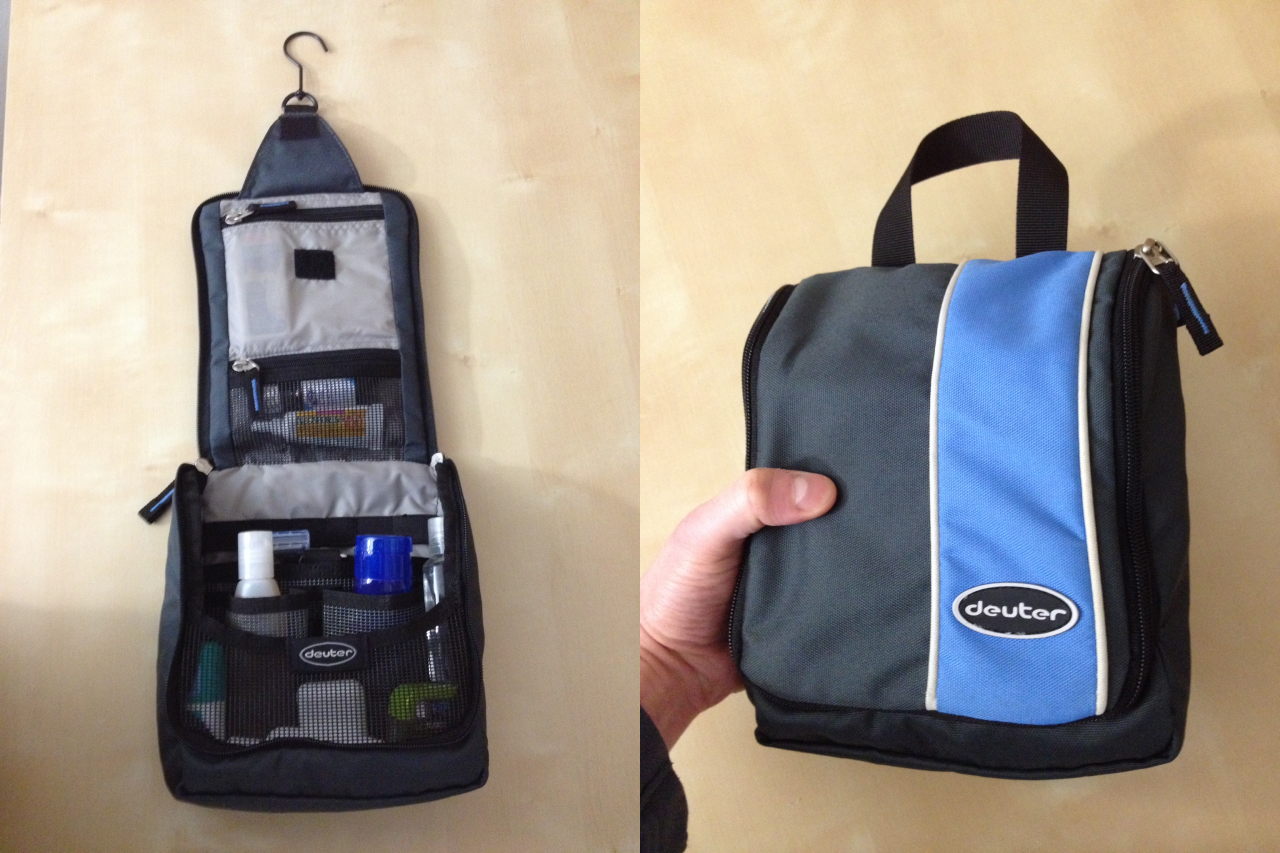 Hanging toiletry kit