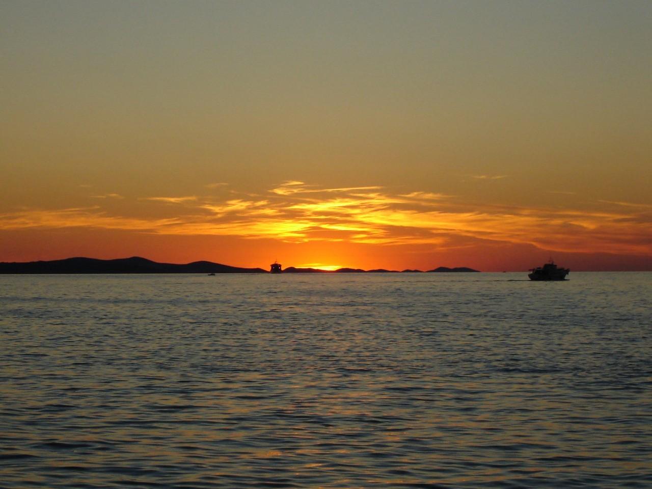 Sunset in Zadar, Croatia
