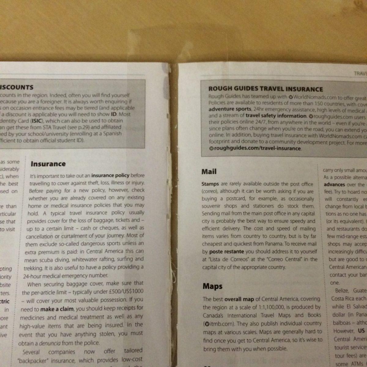 Guidebook inner spine taping
