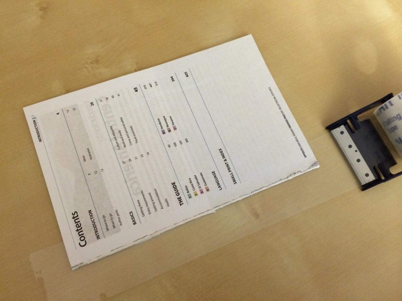 Guidebook taping