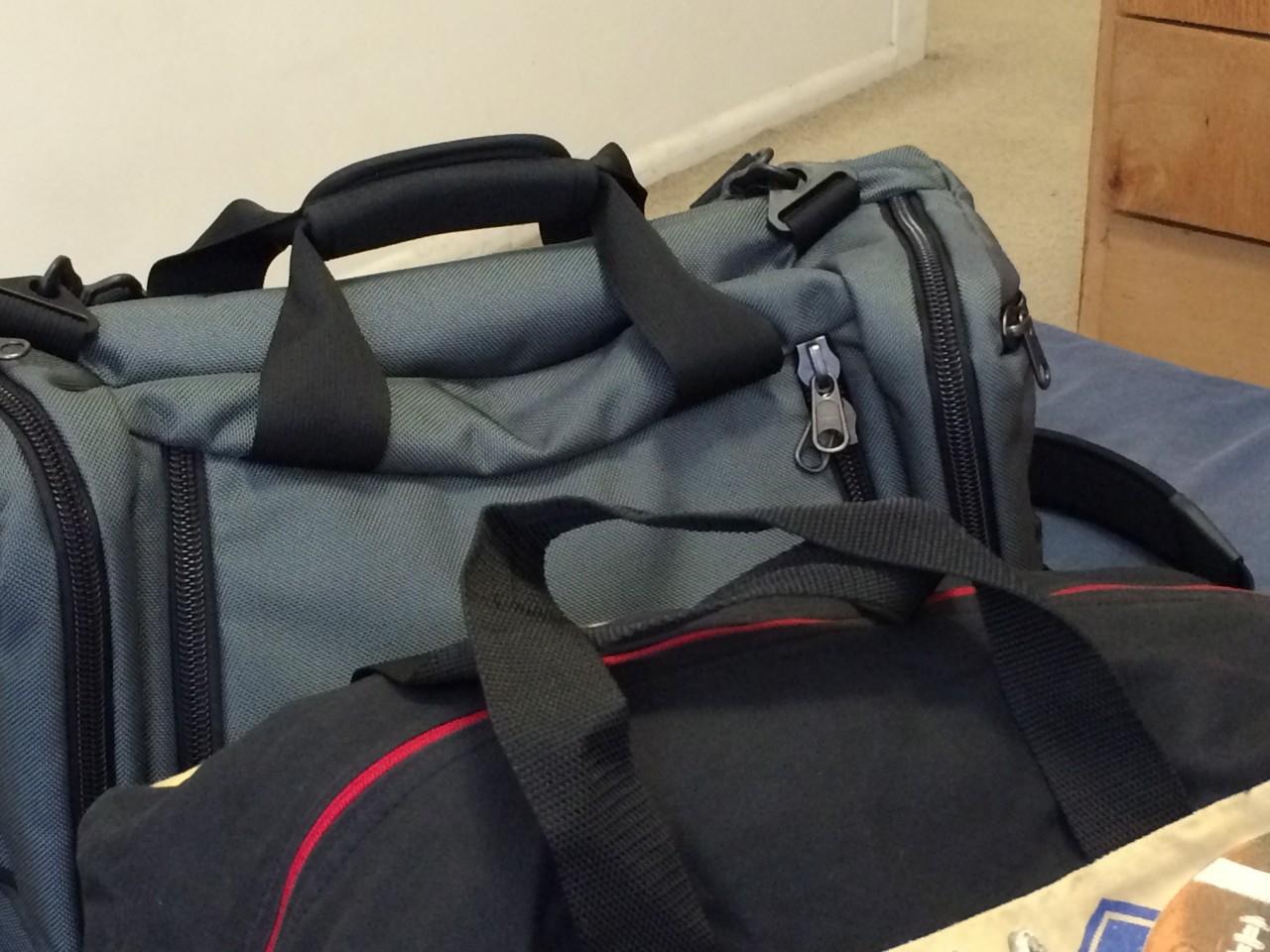 Duffel bag carry handle comparison