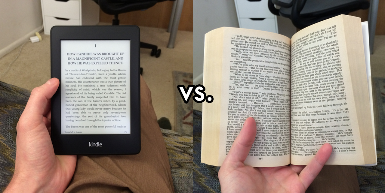 Kindle one handed reading