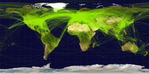 World Flight Paths Map