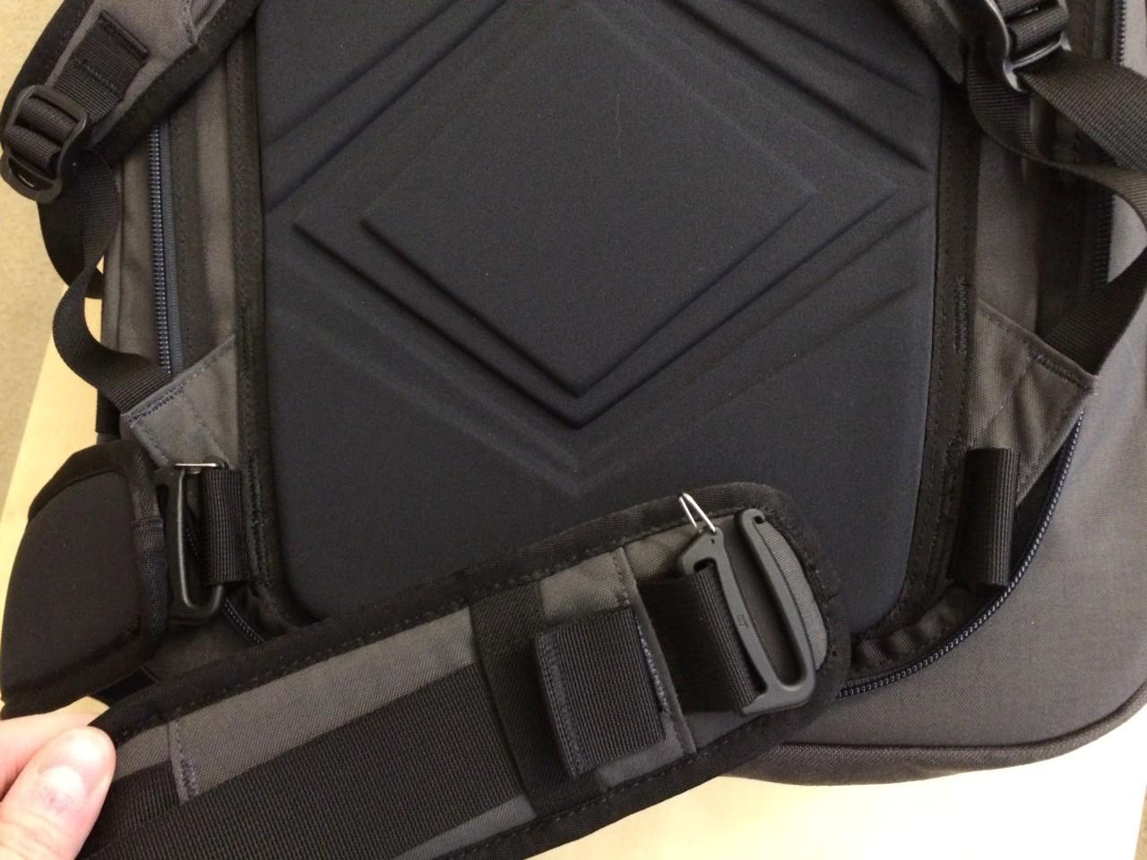 Minaal backpack hip belt attachment