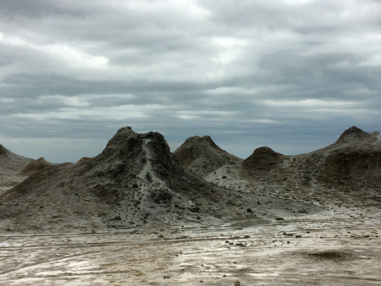 Mud volcanoes and scary clouds