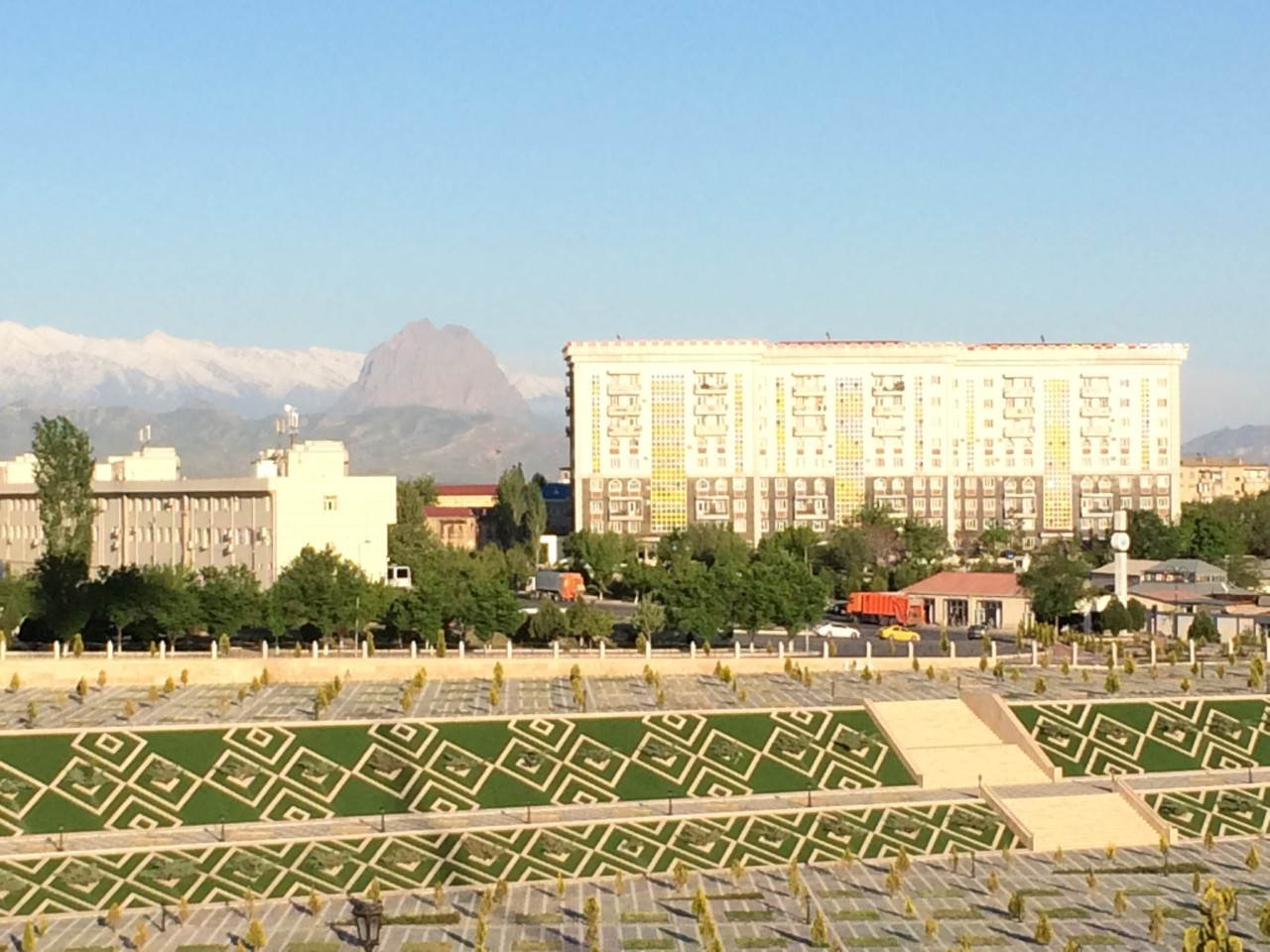 Dented mountain in Nakhchivan
