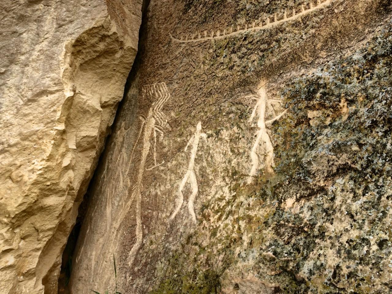 Gobustan petroglyph carving