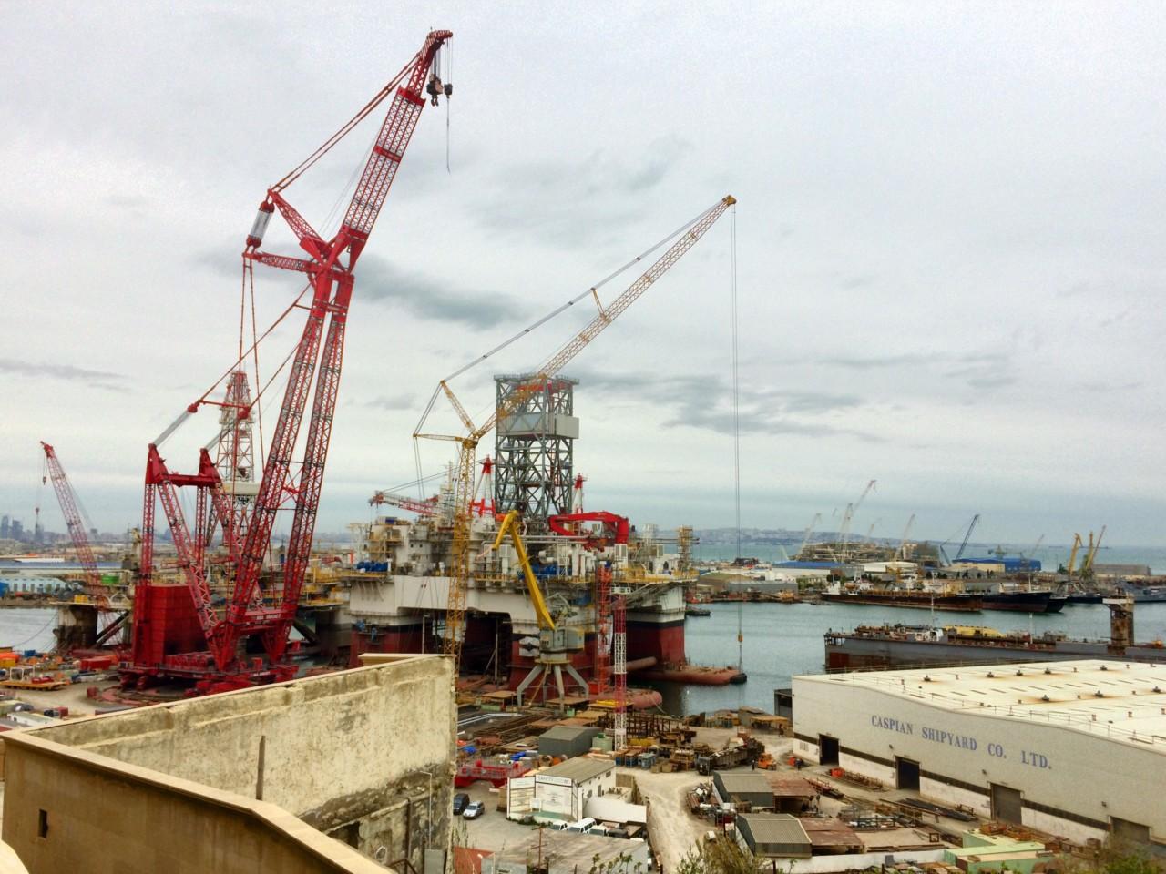 Shipyard near Bibi Heybat