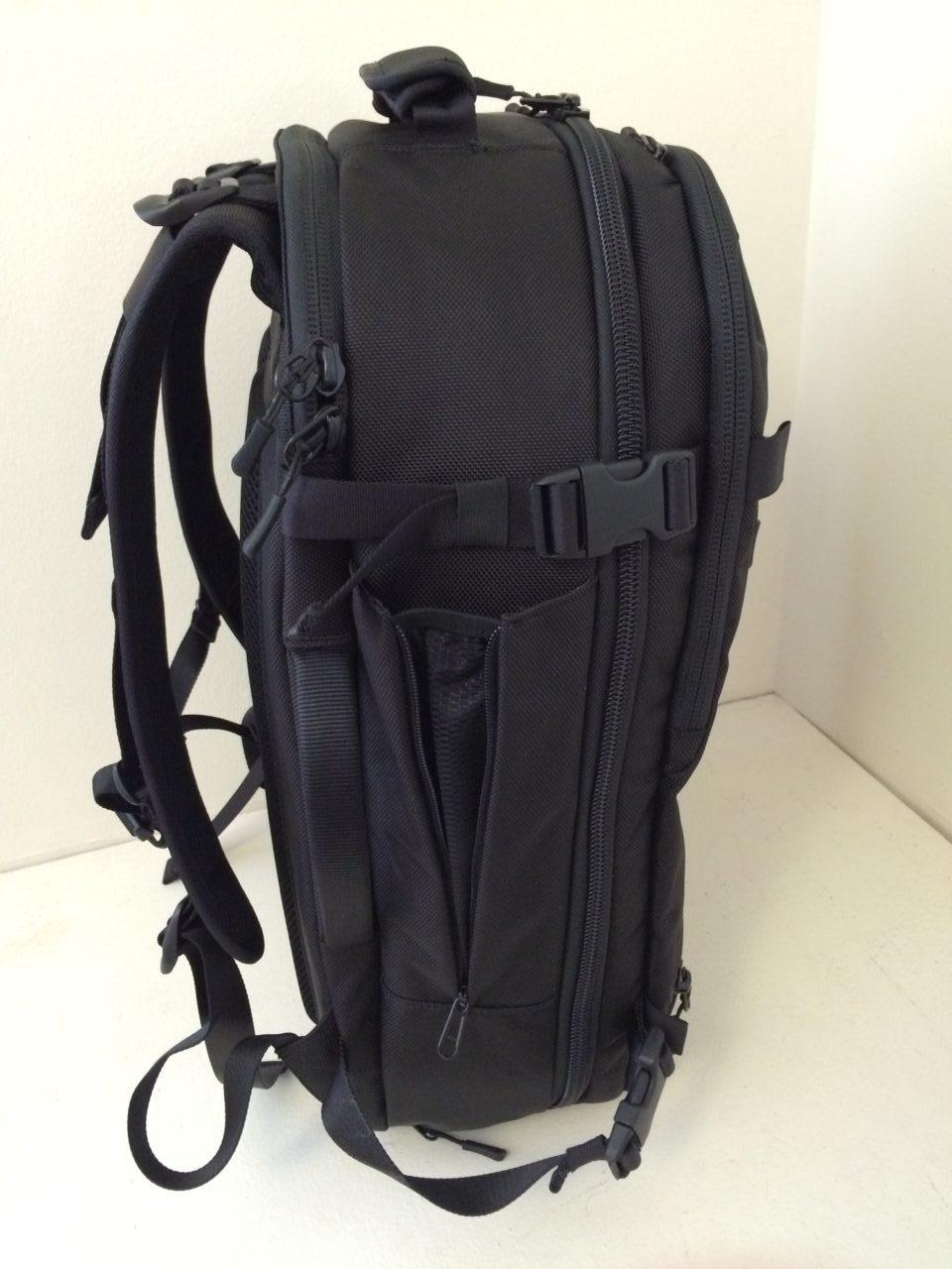 Aer Travel Pack water bottle pocket
