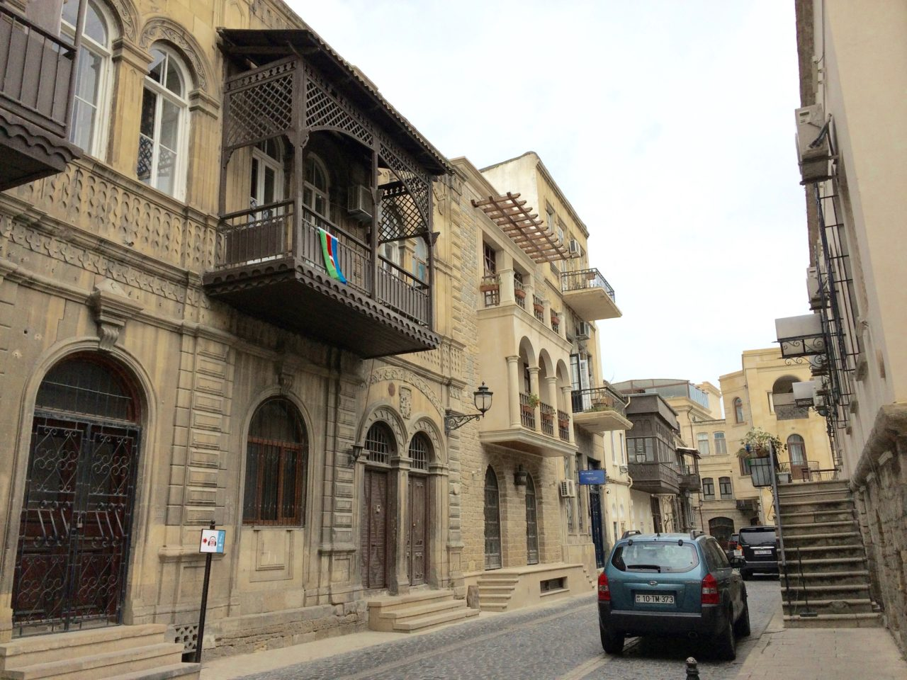 Lonely car in Baku old town