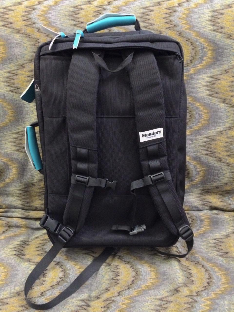 Standard Luggage backpack straps