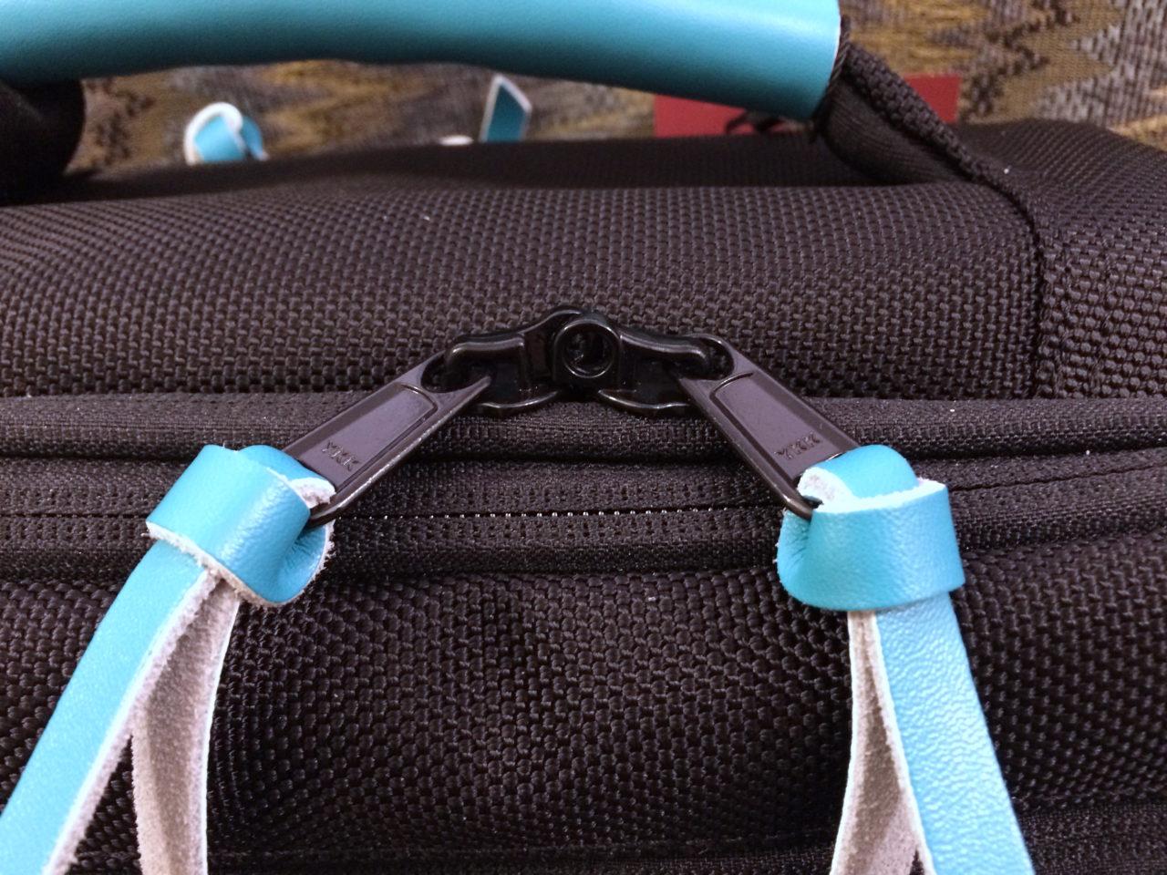 Standard Luggage locking zippers