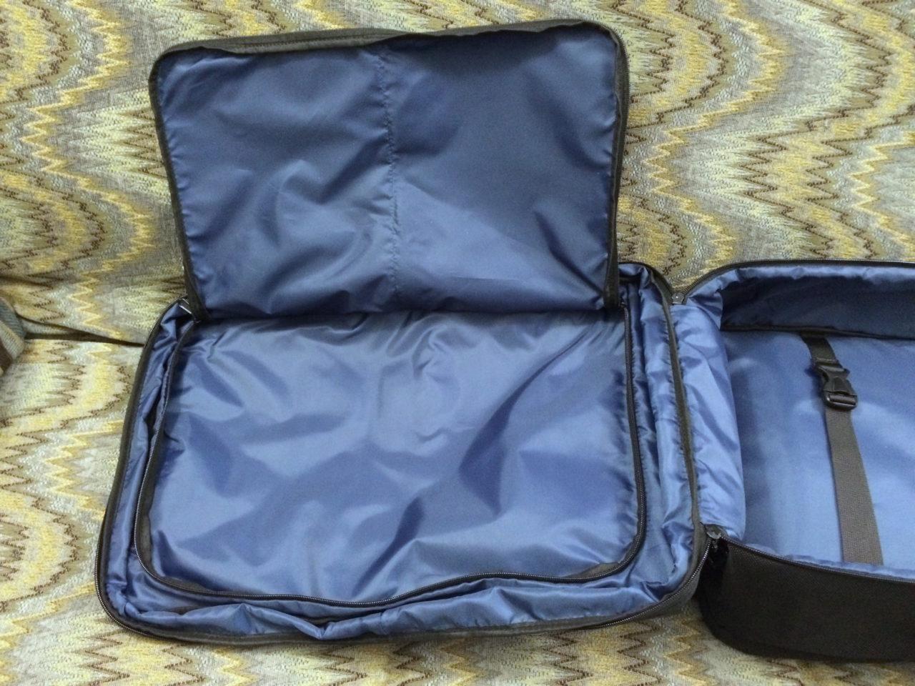 Standard Luggage open flap