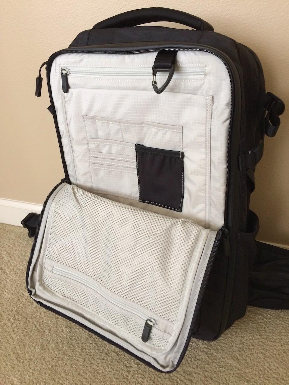 Tortuga Outbreaker Backpack organizer panel