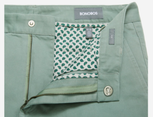 Slider button from Bonobos