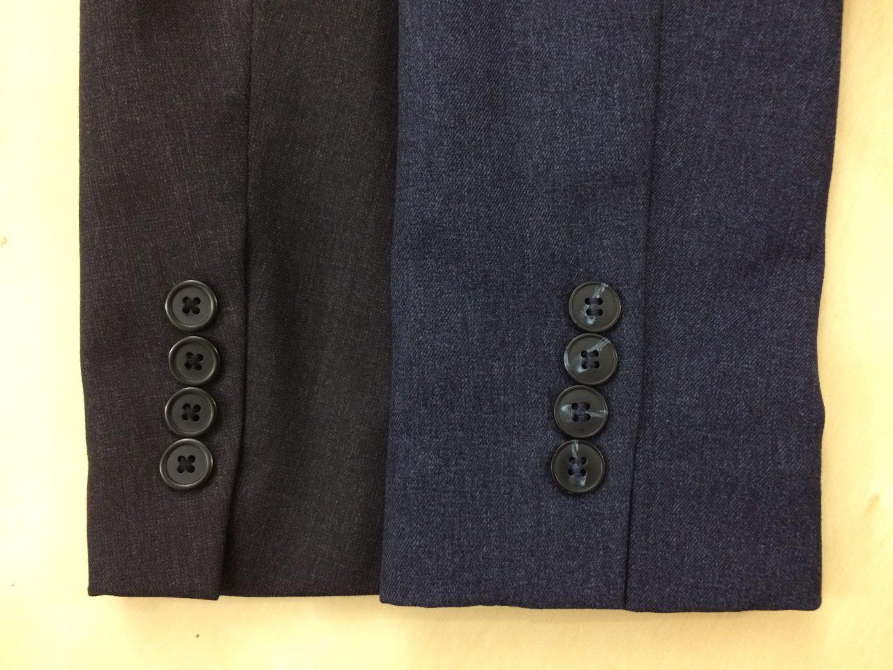 Wool blazer and Bluffworks blazer
