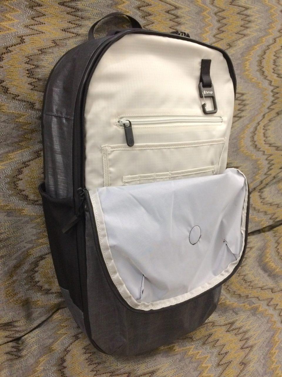 Tortuga Homebase Backpack organizer panel