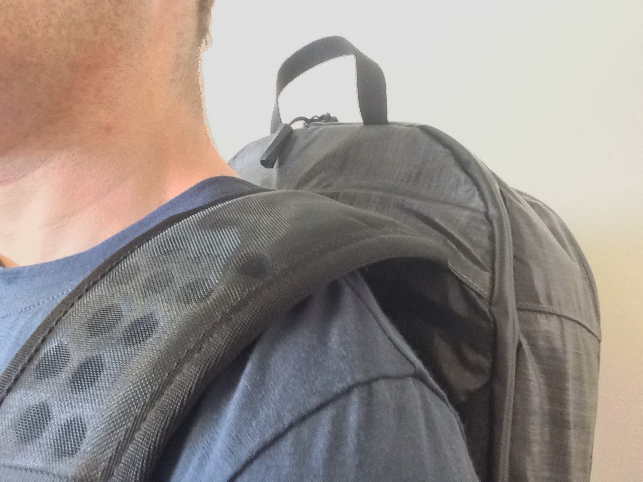 Tortuga Homebase Backpack strap closeup