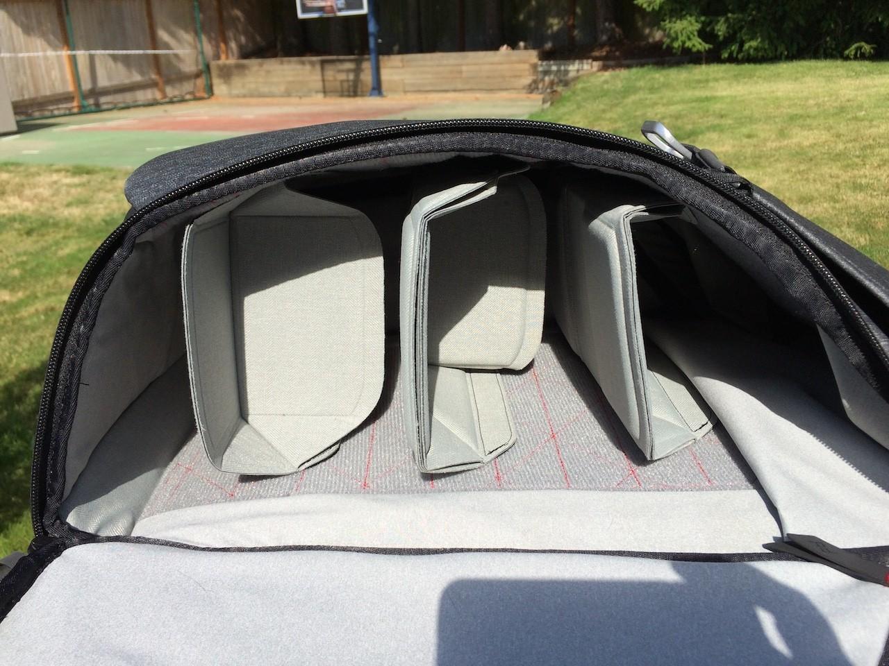 Peak Design Everyday Backpack folding dividers