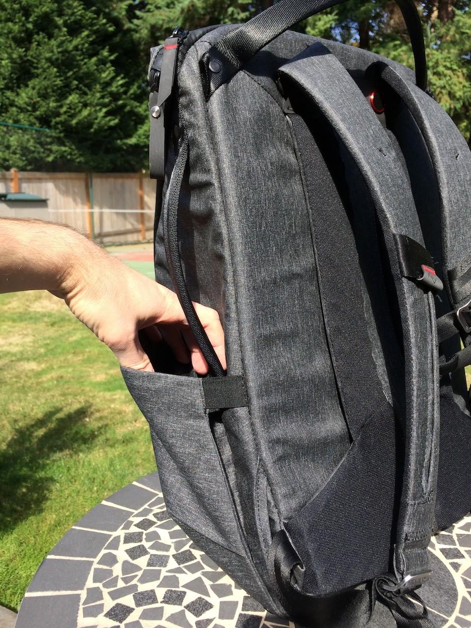 Peak Design Everyday Backpack side pocket