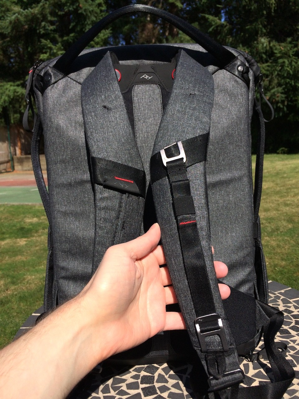 Peak Design Everyday Backpack sternum strap storage