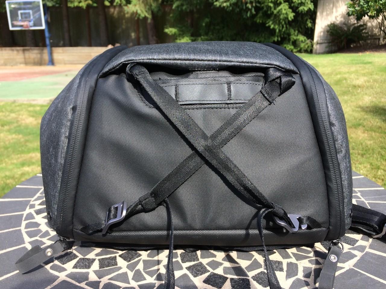 Peak Design Everyday Backpack straps on bottom