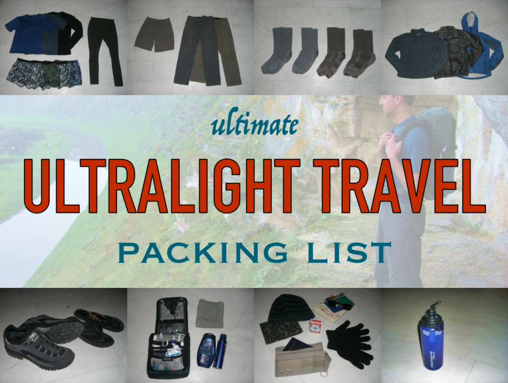4b0c2d3cd2b2 Ultimate ultralight travel packing list – Snarky Nomad