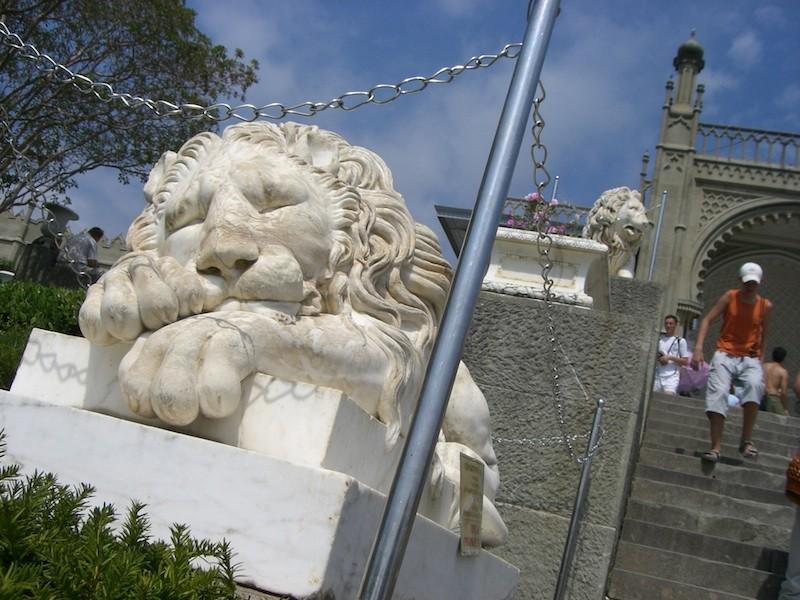 Lion statue at the Vorontsov Palace, Crimea, Ukraine