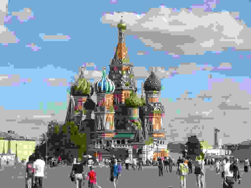 St. Basil's Cathedral, Red Square, Moscow. Russia, duh.