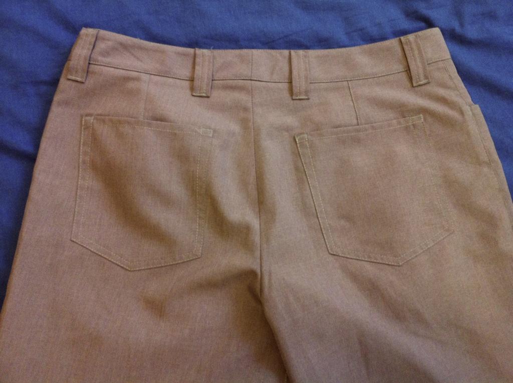 Bluffworks pants back pocket detail