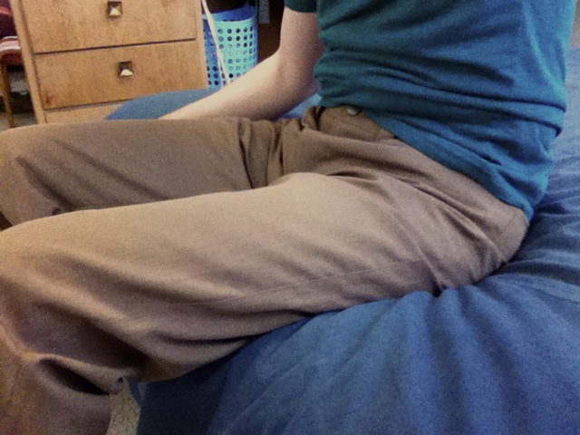 Bluffworks pants, in brown