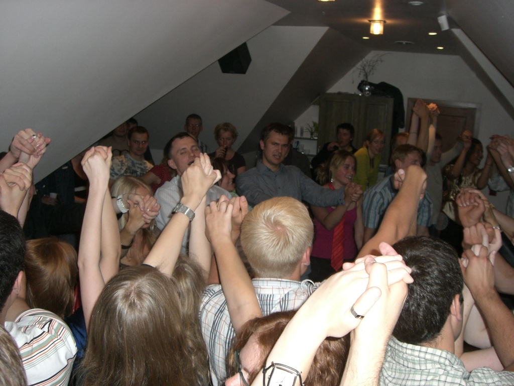 Party in Tartu, Estonia.